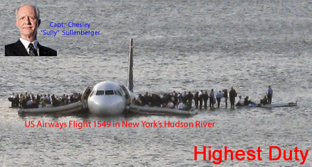 Flight 1549 in the Hudson River